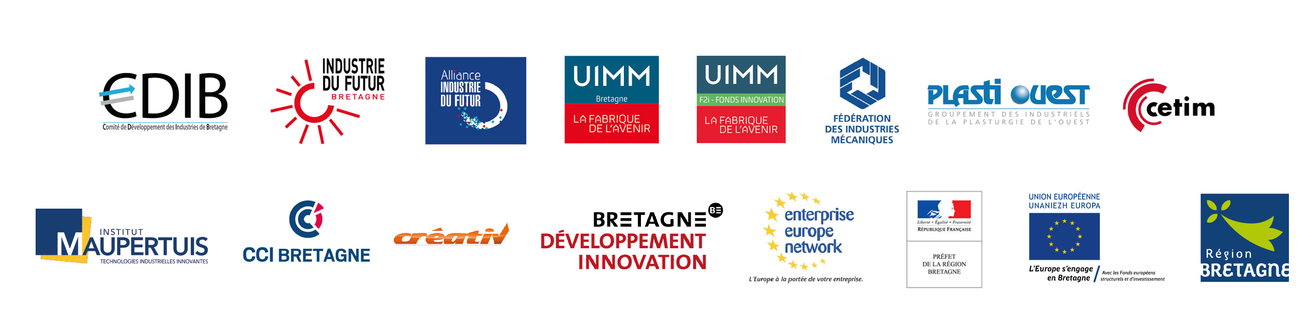 Logos partenaires Open Industrie 2017
