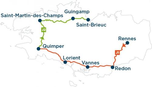 Breizh Electric Tour parcours