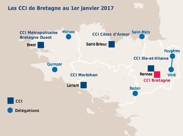 Carte CCI de Bretagne au 20170101