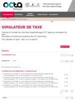 Simulateur Octa Bretagne de taxe d'apprentissage