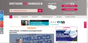 Home page site Bretagne économique